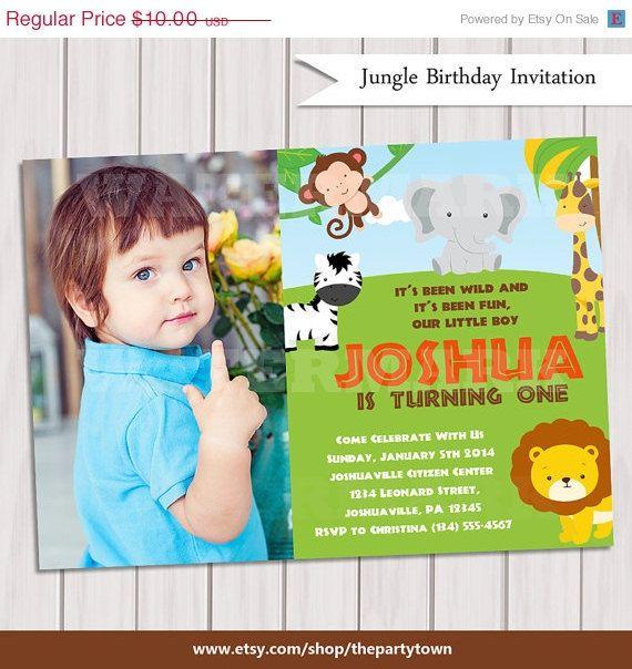20% OFF SALE Jungle Birthday photo Invitation / Safari Birthday invitation photo/ Jungle Safari Invite / Zoo Birthday Invitation / Printable on Etsy, $8.00