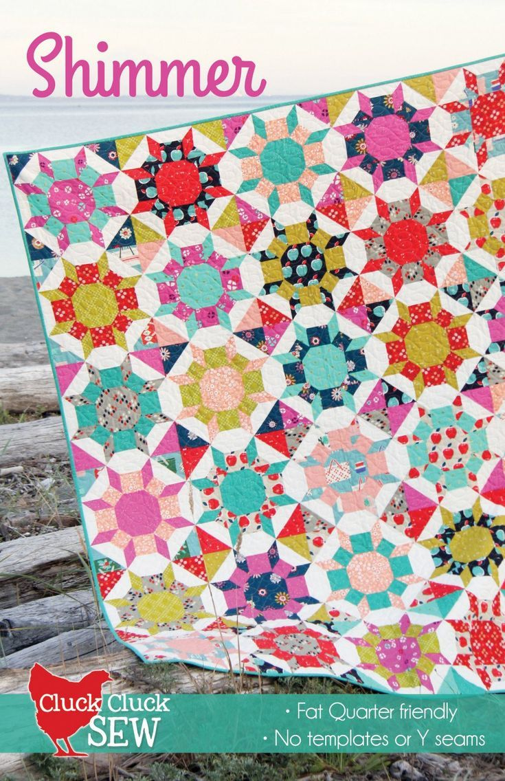 Shimmer 14 Block 5 Sizes Patchwork Quilt Quilting Pattern Fq