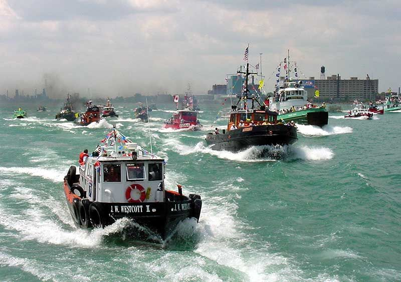 The Normally Sedate Detroit River Comes Alive With Roaring