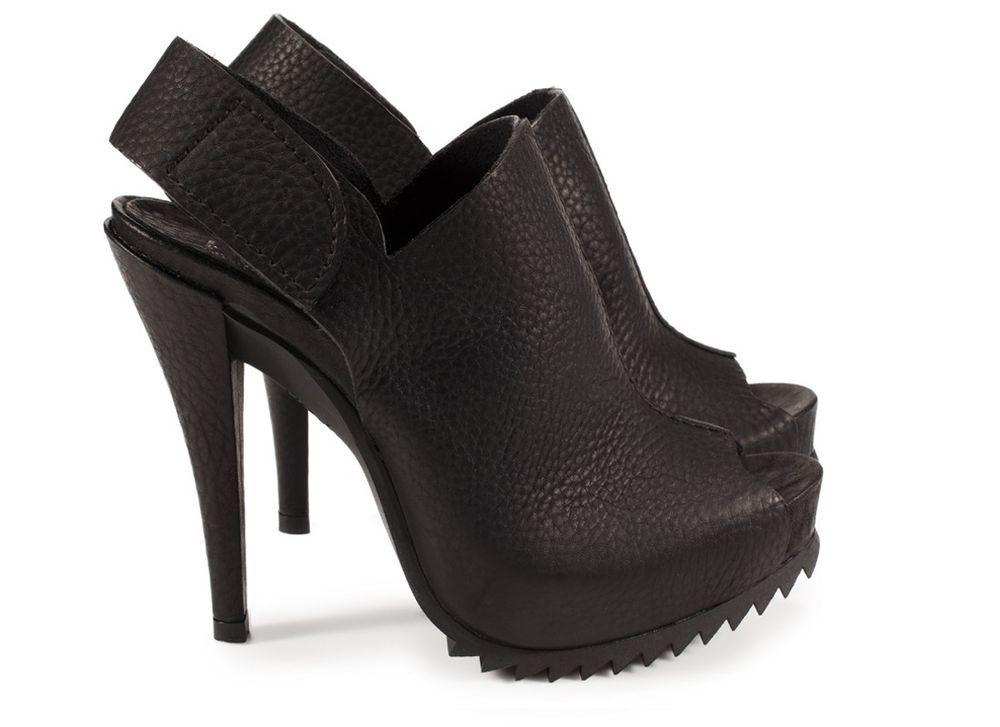Pedro Garcia Paulette Pebble Leather Slingback Sawtooth Sandal 37.5 Black #PedroGarcia #Slingbacks #WeartoWork