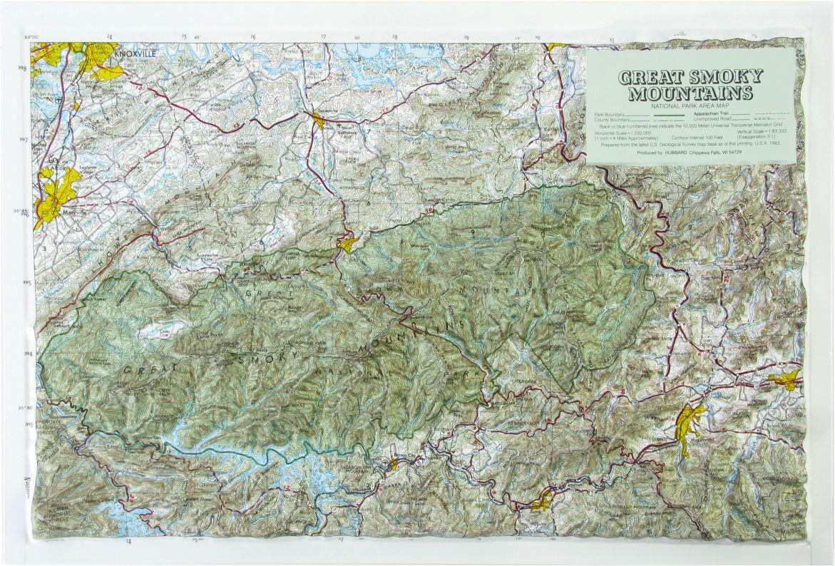 Hubbard Scientific Raised Relief Map Great Smoky Mtn