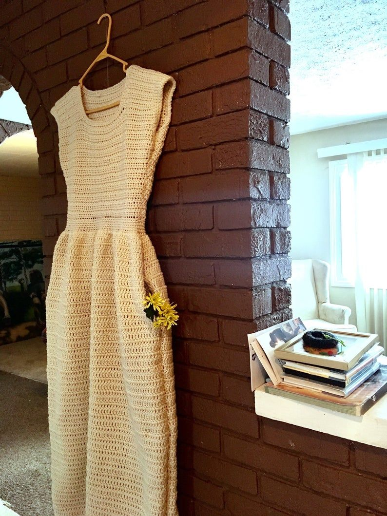 Crochet Pattern Only Fabulous Fit N Flare Dress With Pockets Etsy In 2020 Fit N Flare Dress Flare Dress Crochet Dress Pattern