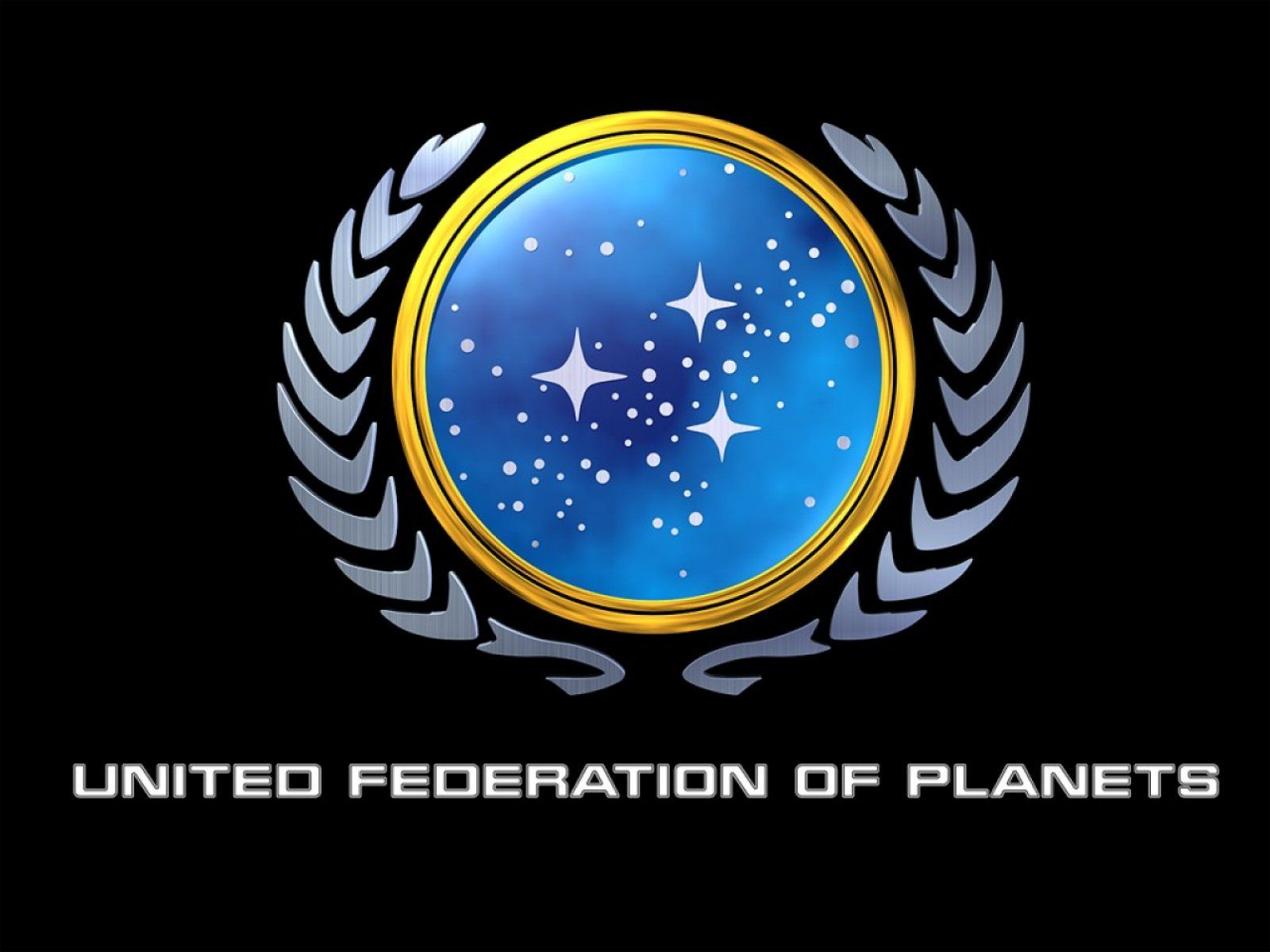 Star Trek United Federation Of Planet Logo Free Star Trek Desktop Wallpaper Size 1600x1200 Star Trek Wallpaper United Federation Of Planets Star Trek Logo