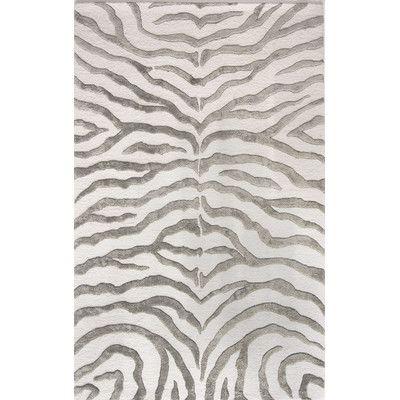 Zebra Grey Area Rug Hand Tufted Rugs