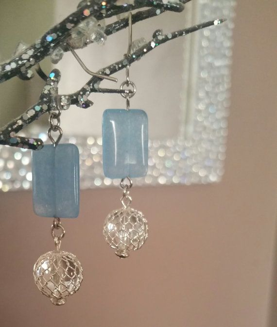 Hey, I found this really awesome Etsy listing at https://www.etsy.com/listing/247959958/blue-glass-bead-and-clear-glass-bead