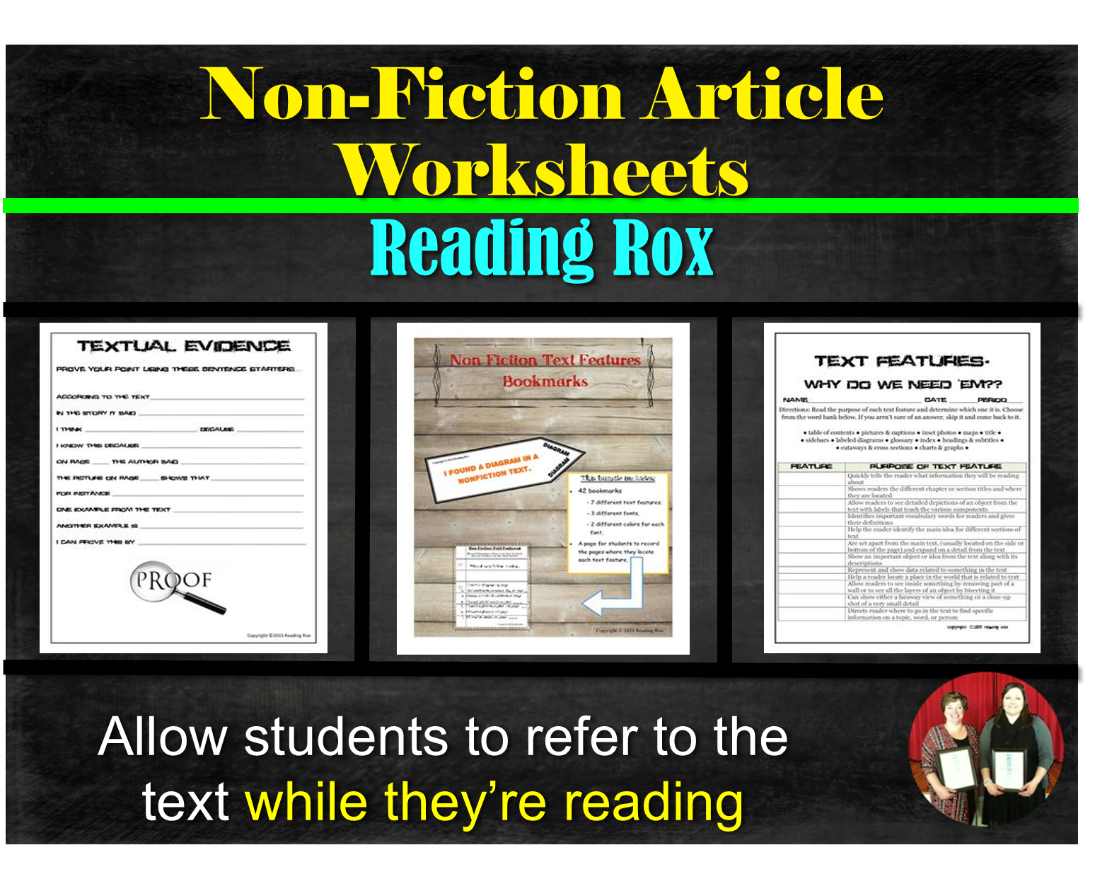 Non Fiction Text Feature Bookmarks