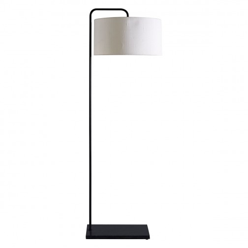 MARBELLE BLACK Metal and marble floor lamp with drum silk white shade #whitemarbleflooring