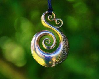 Solid Bronze Koru Pendant Maori Love Symbol On Chain Or Cord Maori Maori Symbols Maori Art