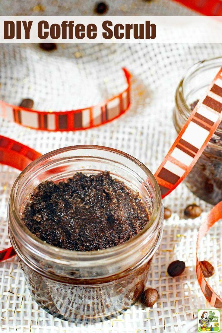 This DIY Coffee Scrub recipe makes a super homemade