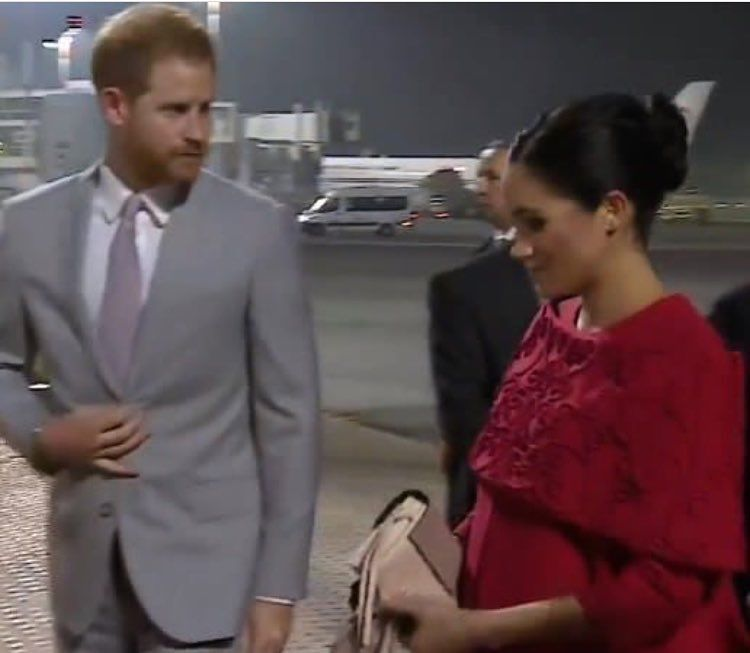 Adorable Harry And Meghan Have Just Landed At Casablanca Airport Royalvisitmorocco Meghan Markle Prince Harry American Princess Prince Harry And Meghan
