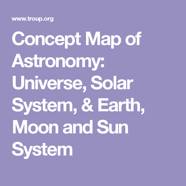 Concept Map Of Astronomy Universe Solar System Earth Moon And