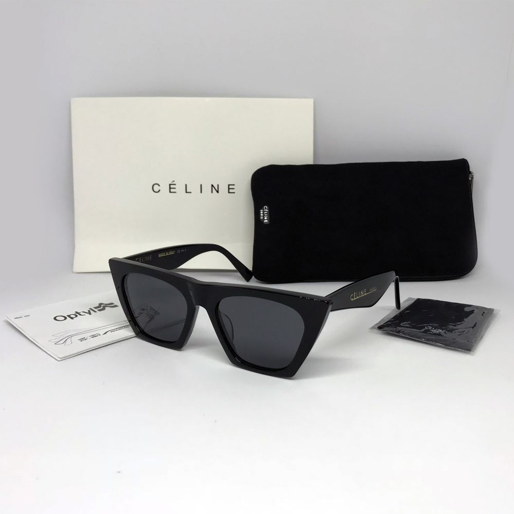 89476e1ff90d New CELINE Edge CL 41468 S 807IR Sunglasses Black Gray Women Italy  fashion   clothing  shoes  accessories  womensaccessories ...