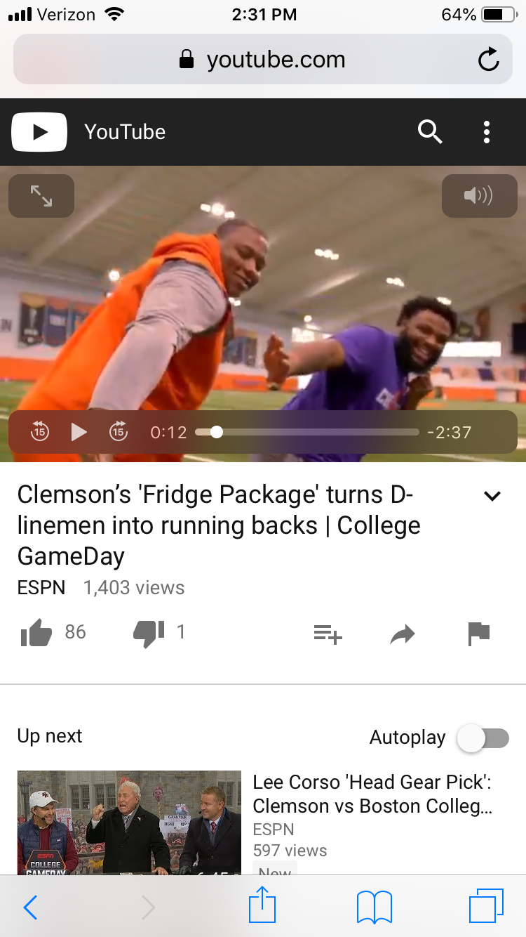 Pin by Judy Evans on CLEMSON Lineman, Youtube com, My