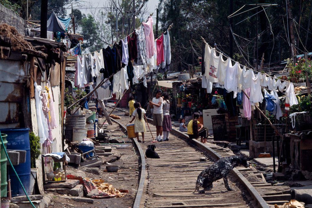Bidonville A Mexico City Mexico Slums City
