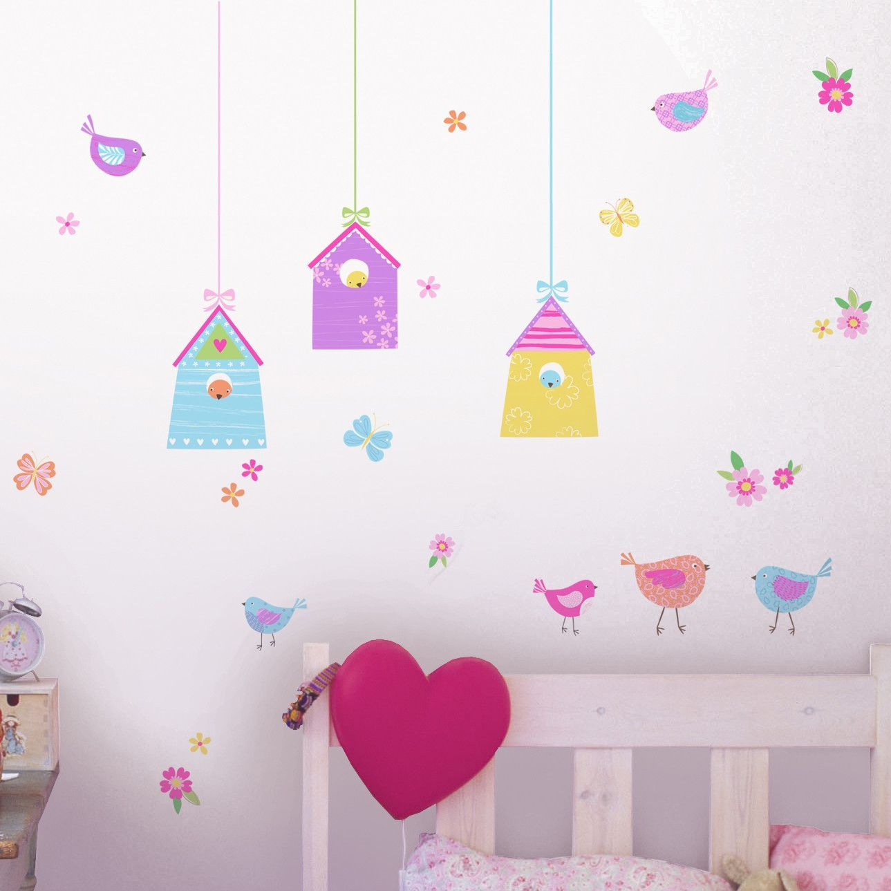 Fun4walls Bird Houses Wall Decal Wall Stickers Birds Bird Wall