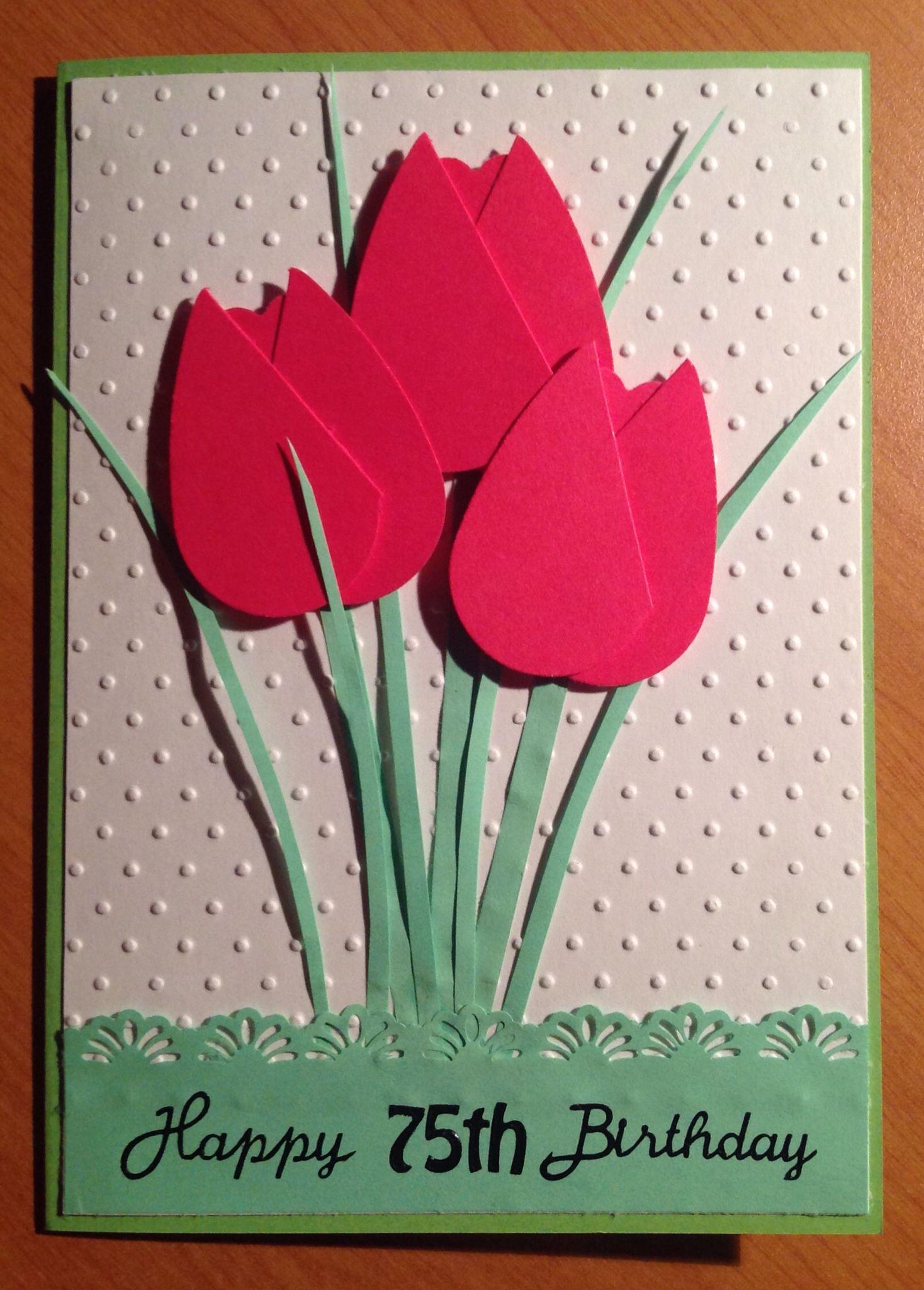 Female 75th Birthday Card Crafts Pinterest Craft