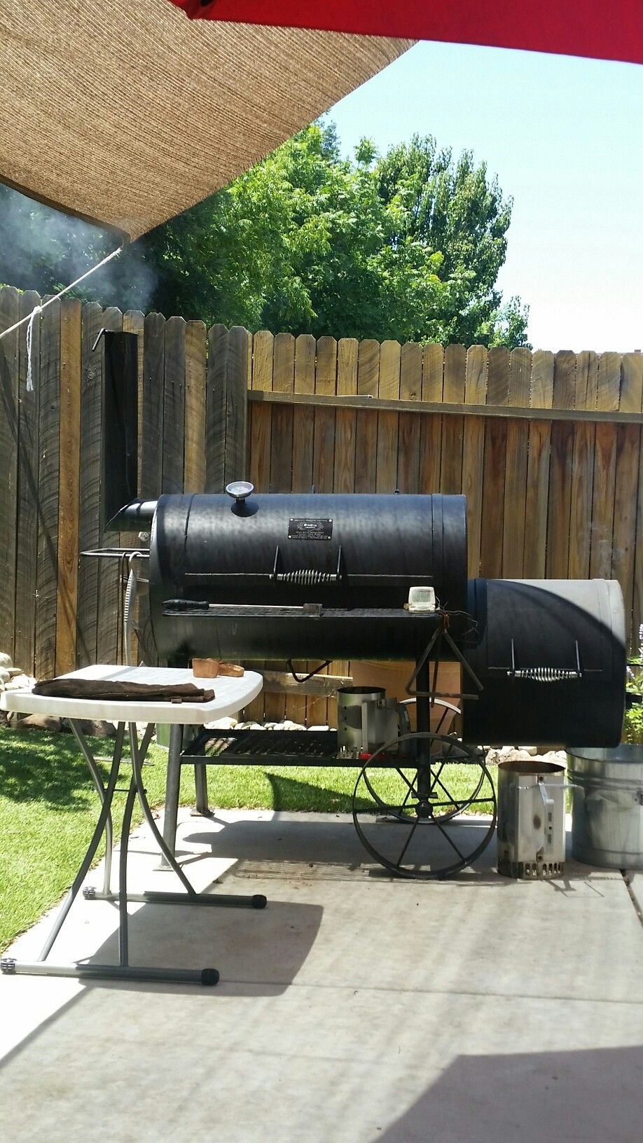 20 inch horizon smoker in action bbq pinterest grilling
