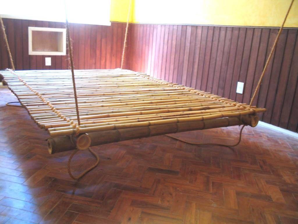 Lit Suspendu En Bambou Artesanato Com Bambu Bambu Moveis