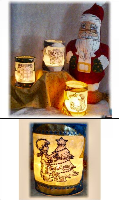 """""""Festive Candle Holders"""" 9 festive designs create a one-of-a-kind gift. Change…"""