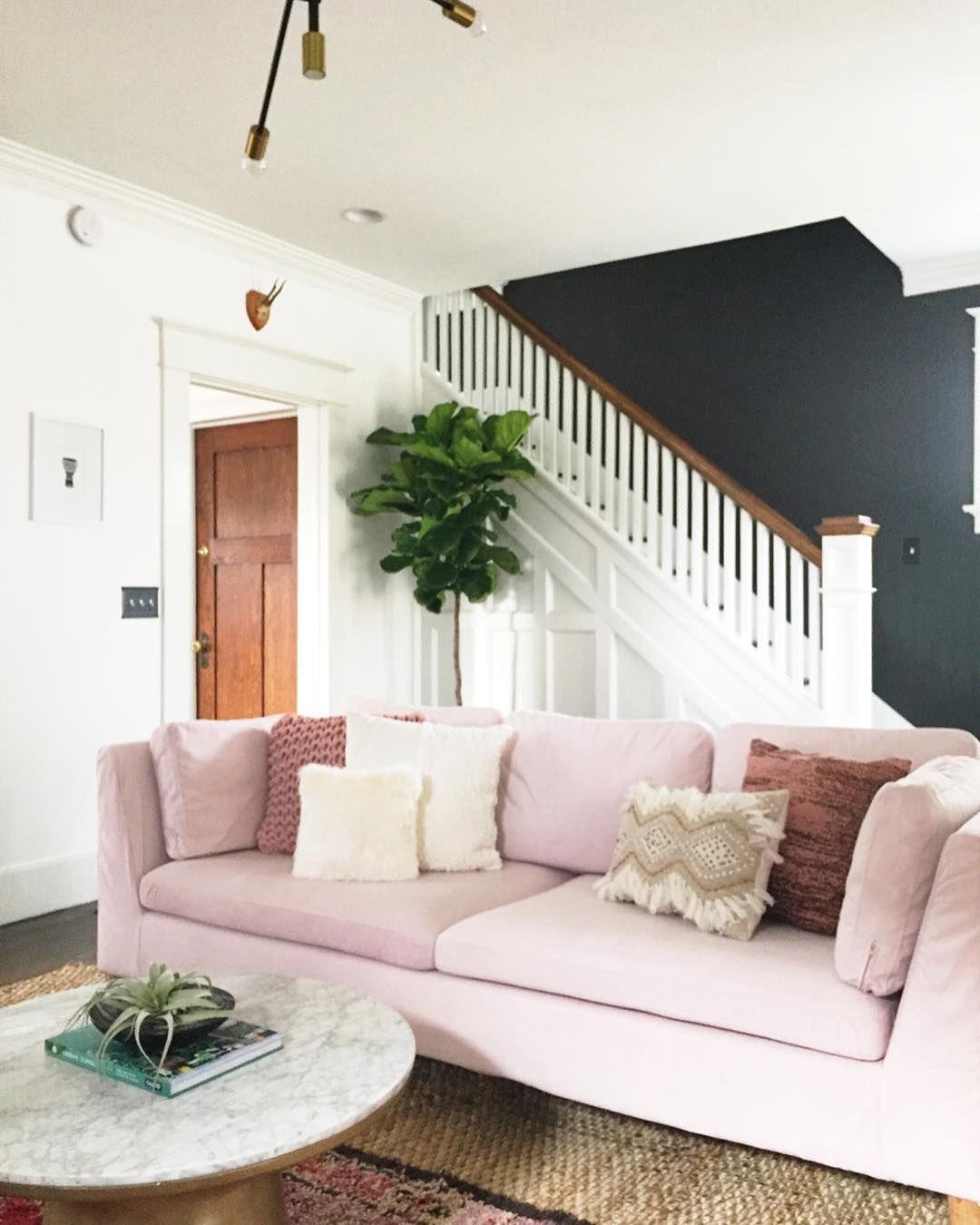 Blush velvet slipcovers for sofas, sofa beds, armchairs