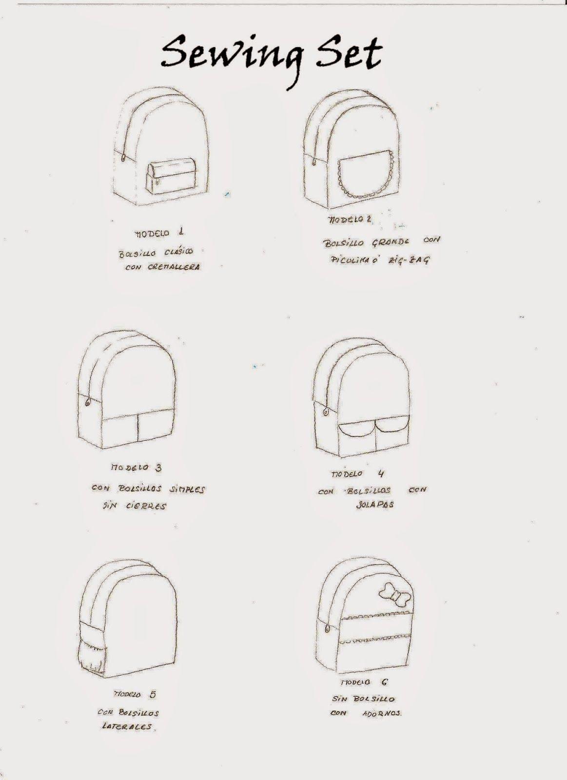seis modelos de mochila para niños con patron y tutorial | CATANAIMA ...