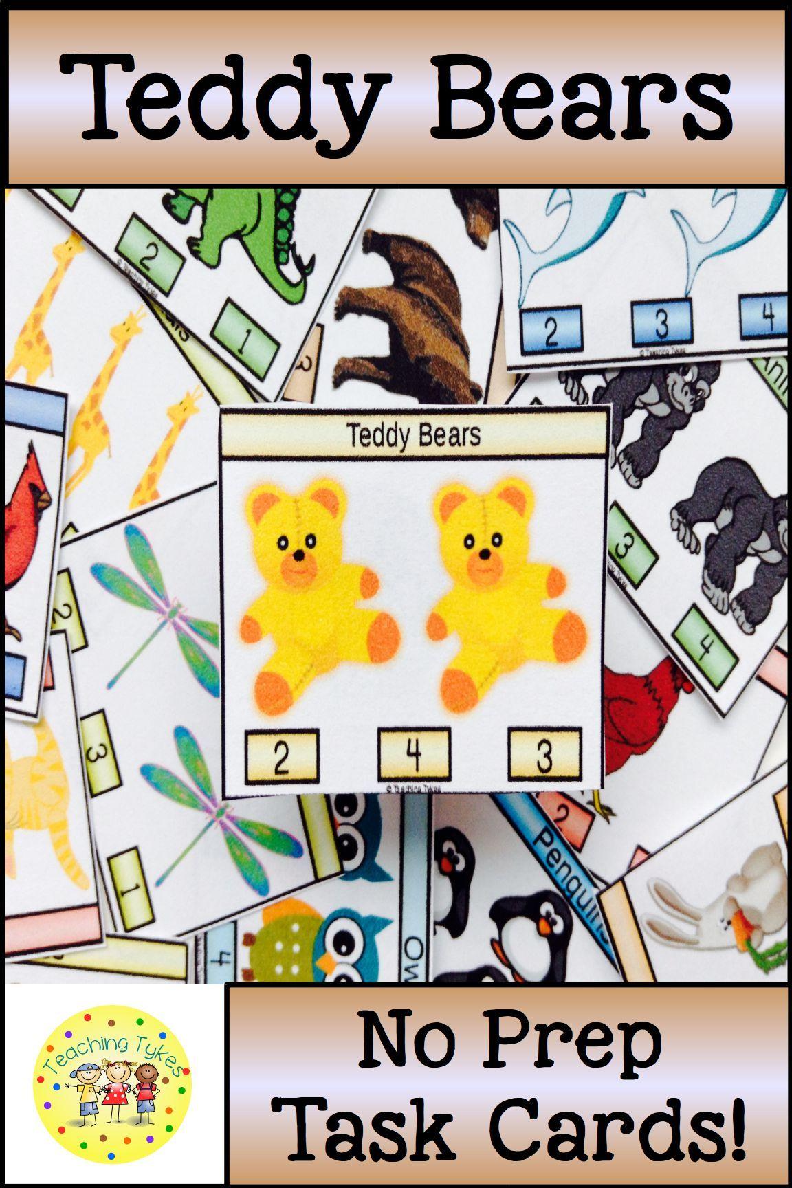 Teddy Bears Activity To Practice Counting Teddybears