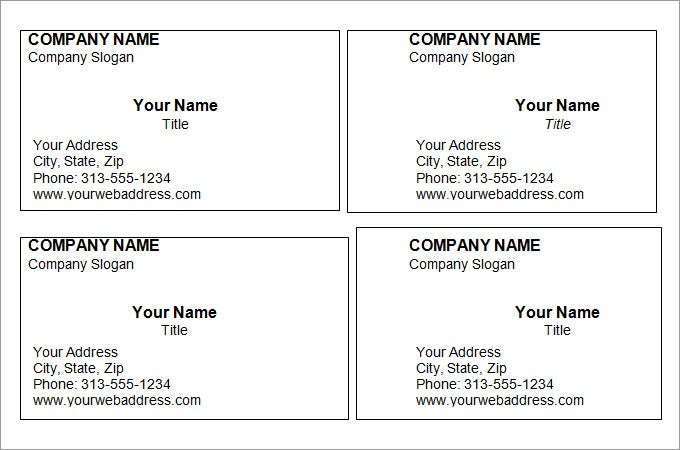 44 Free Blank Business Card Templates Ai Word Psd Pertaining To Bla Free Printable Business Cards Business Card Template Word Free Business Card Templates