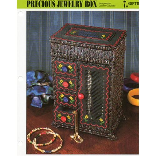 Precious Jewelry Box Gifts Plastic Canvas Pattern Plastic Canvas