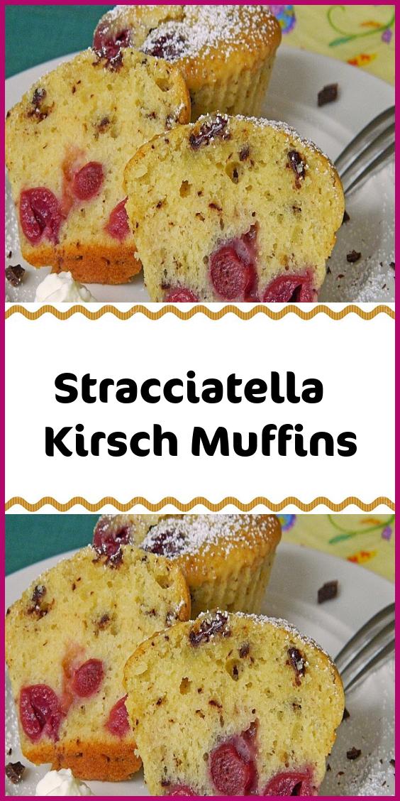 Stracciatella Kirsch Muffins