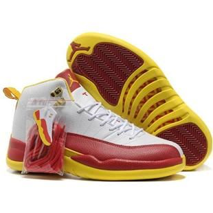 748fcec7b213 http   www.asneakers4u.com Nike Air Jordan 12 XII Men Shoes in White ...
