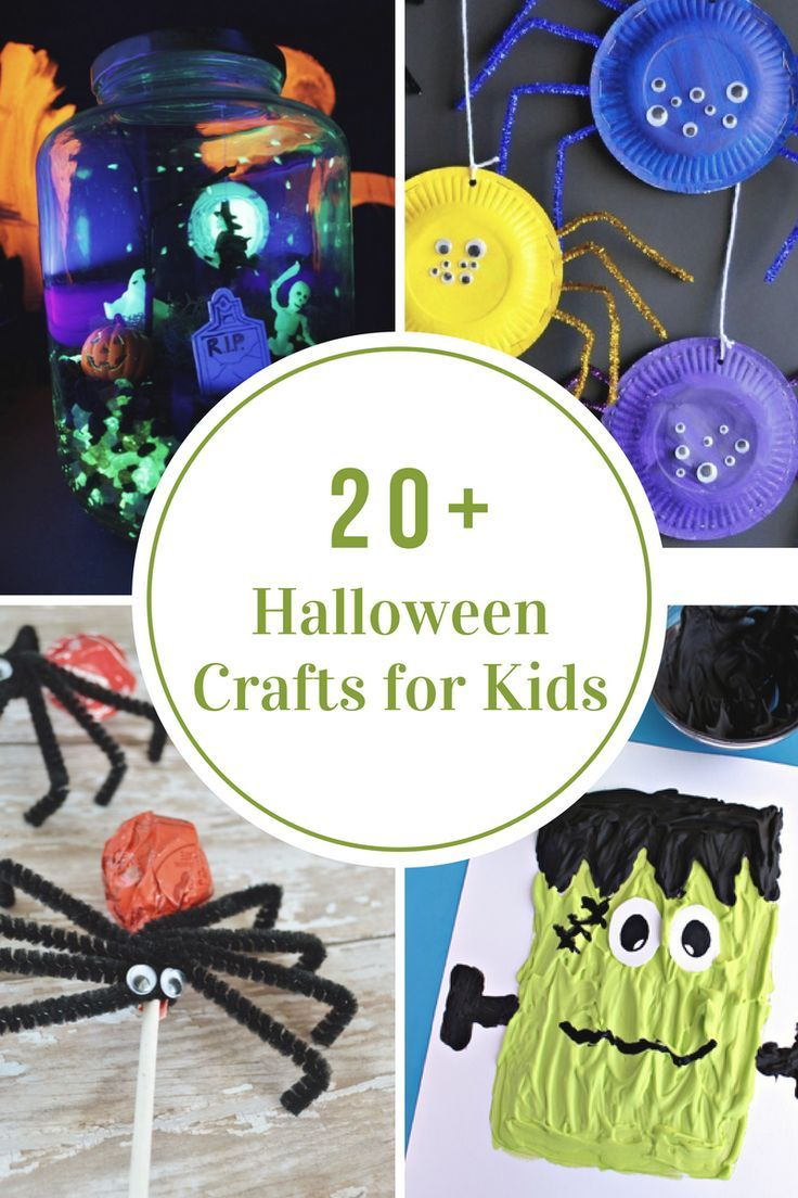 Halloween classroom crafts - Today I Have Collected Some Simple Halloween Crafts For Kids That Can Be Made At