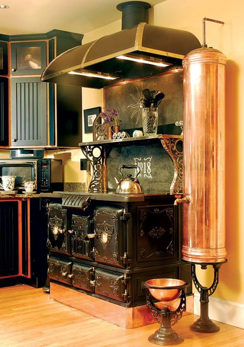 small resolution of david erickson of erickson s antique stoves used the stove s central firebox to disguise the wiring and controls for the new electric cooktop