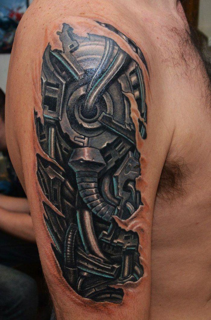 98 Erstaunliche Biomechanik Tattoo Designs Archzine Net Biomechanik Tattoo Biomechanik Tattoos Mechaniker Tattoo