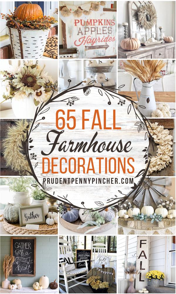 65 Farmhouse Fall Decor Ideas
