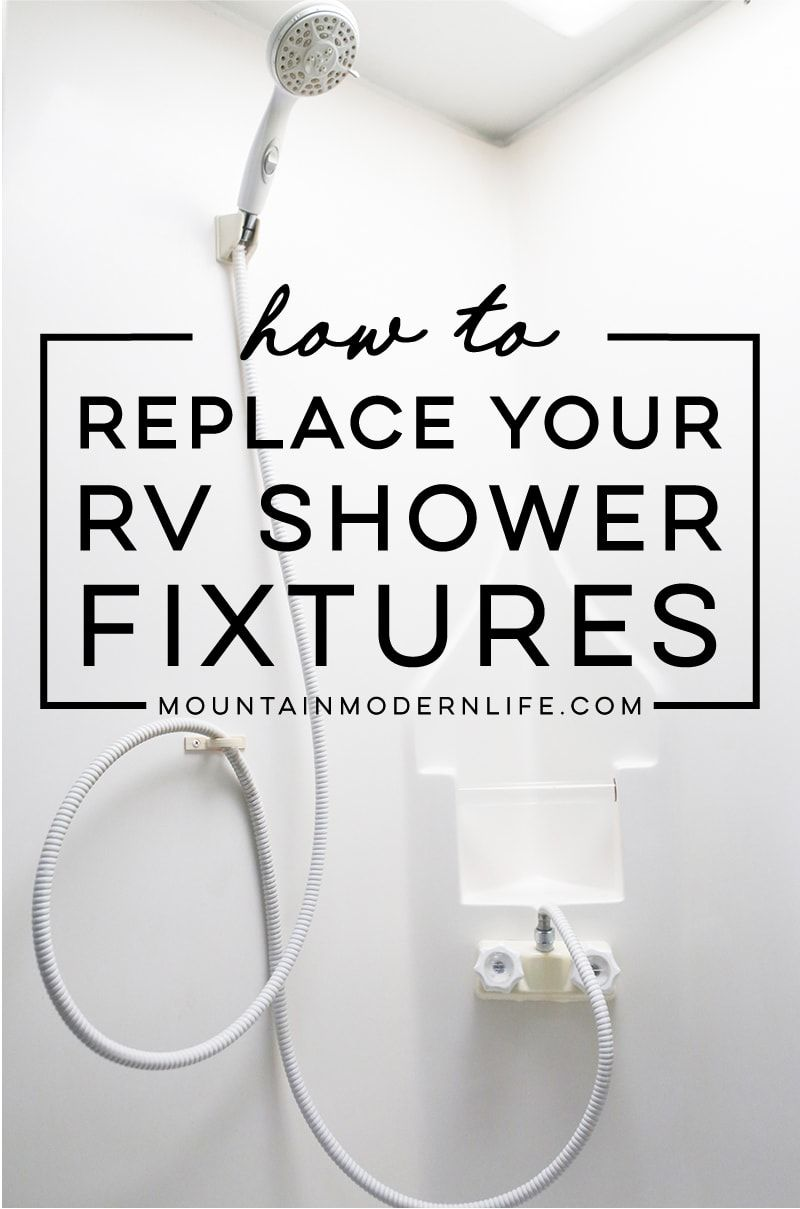 How To Replace An Rv Shower Faucet With Images Rv Shower Head