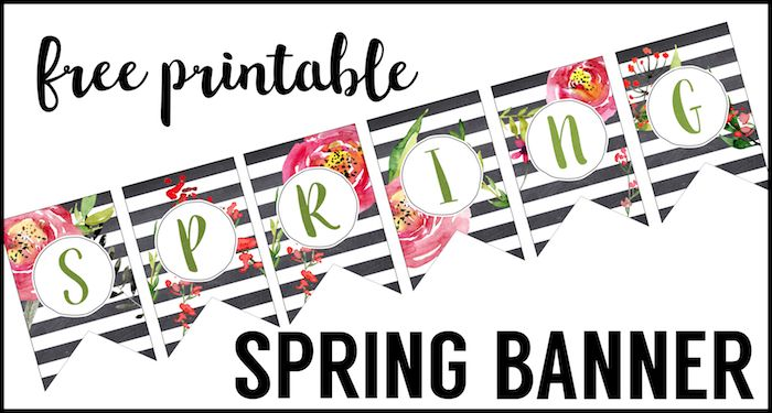 Spring Banner Printable Spring Decorations  Spring Decorations