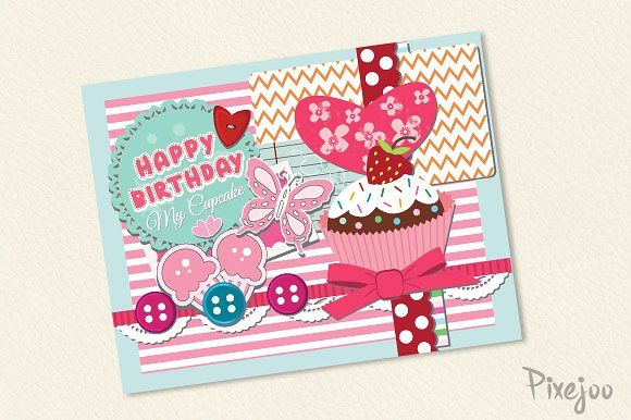 Birthday Cards Templates ~ Scrapbook happy birthday card happy birthday cards card