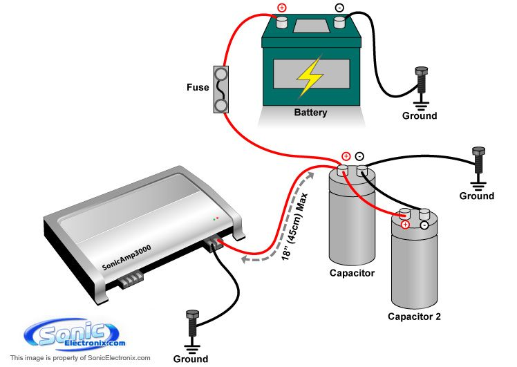 car stereo capacitor wiring tips electrical wiring power capacitor connection capacitor wiring diagram car audio