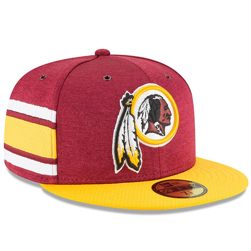Washington Redskins New Era 2018 NFL Sideline Home Official 59FIFTY Fitted  Hat – Burgundy Gold e0fe63a09d3c