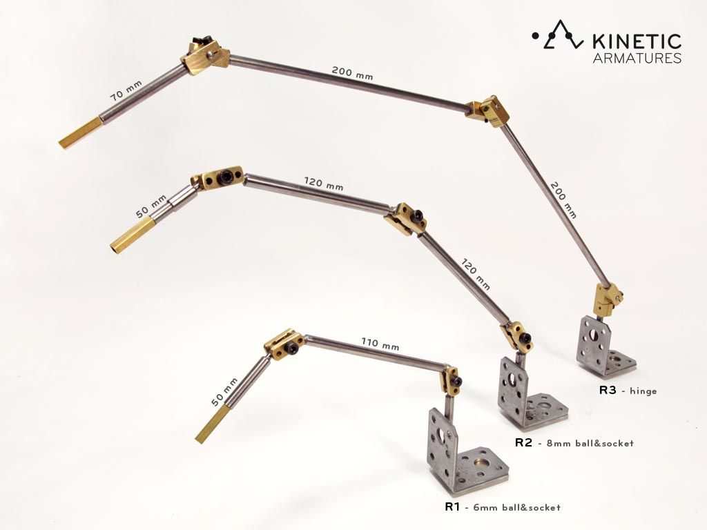 K2 Stopmotion armature. Professional structure for stopmotion animation