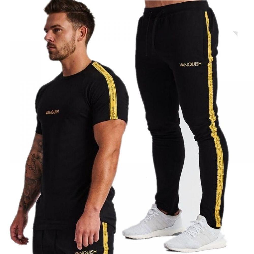 MARVEL Mens Sportswear Tracksuit Short Sleeve Shorts Set Casual Gym Fitness Suit