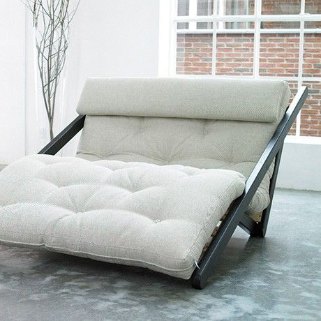 Futon Lounge Chair Brn Beige By Karup Monoqi
