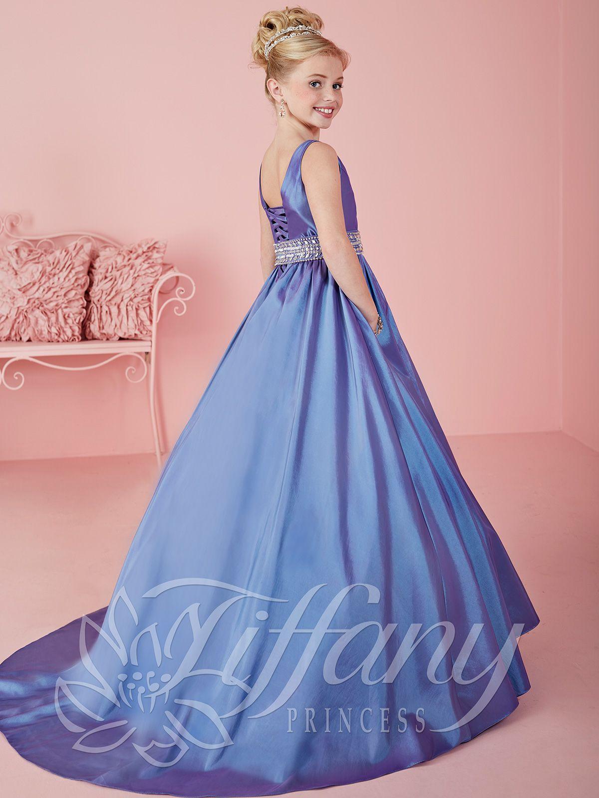 Tiffany Princess 13464 Scoop Neckline Pageant Dress | vada | Pinterest
