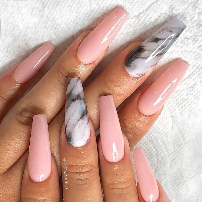 Marble Nails To Every Taste | NailDesignsJournal.com