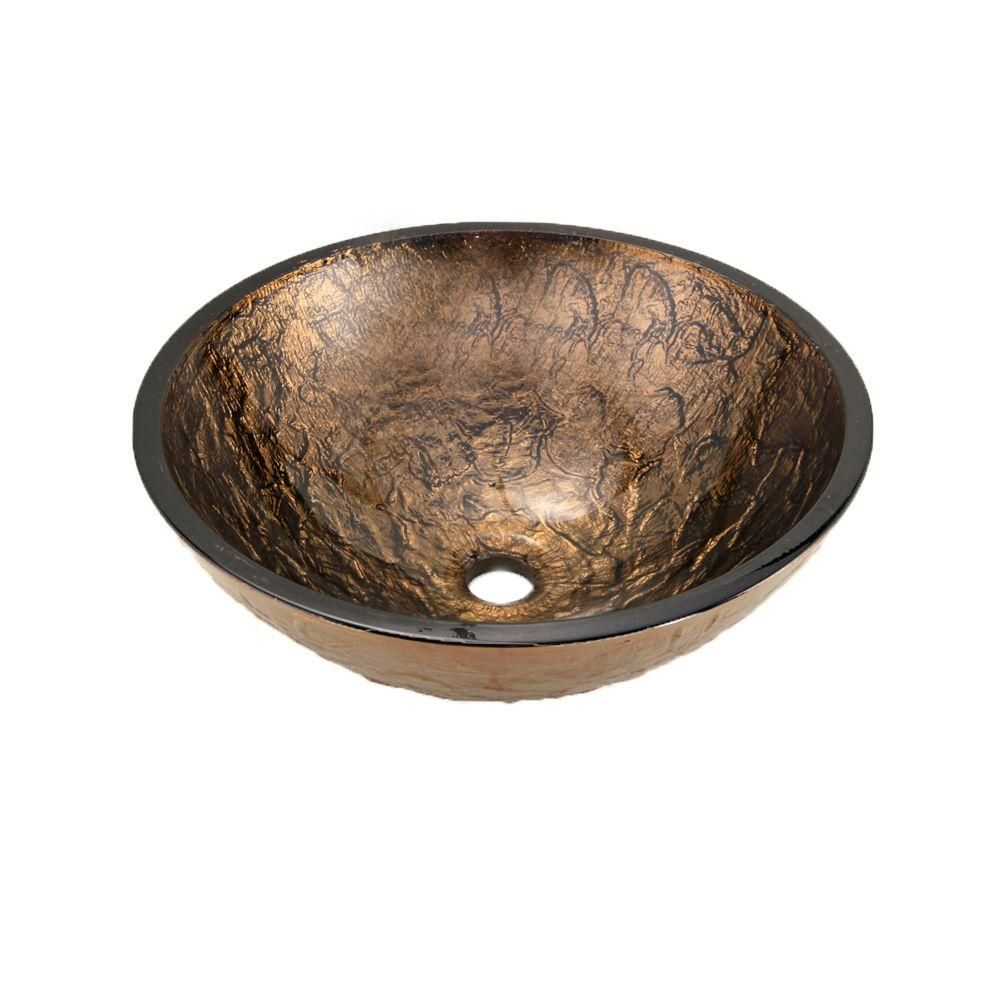 Jsg Oceana Vessel Sink In Cobalt Copper Copper Home and Ps