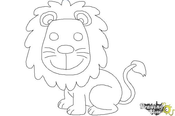 How To Draw A Lion For Kids Lions For Kids Lion Drawing Simple Lion Drawing