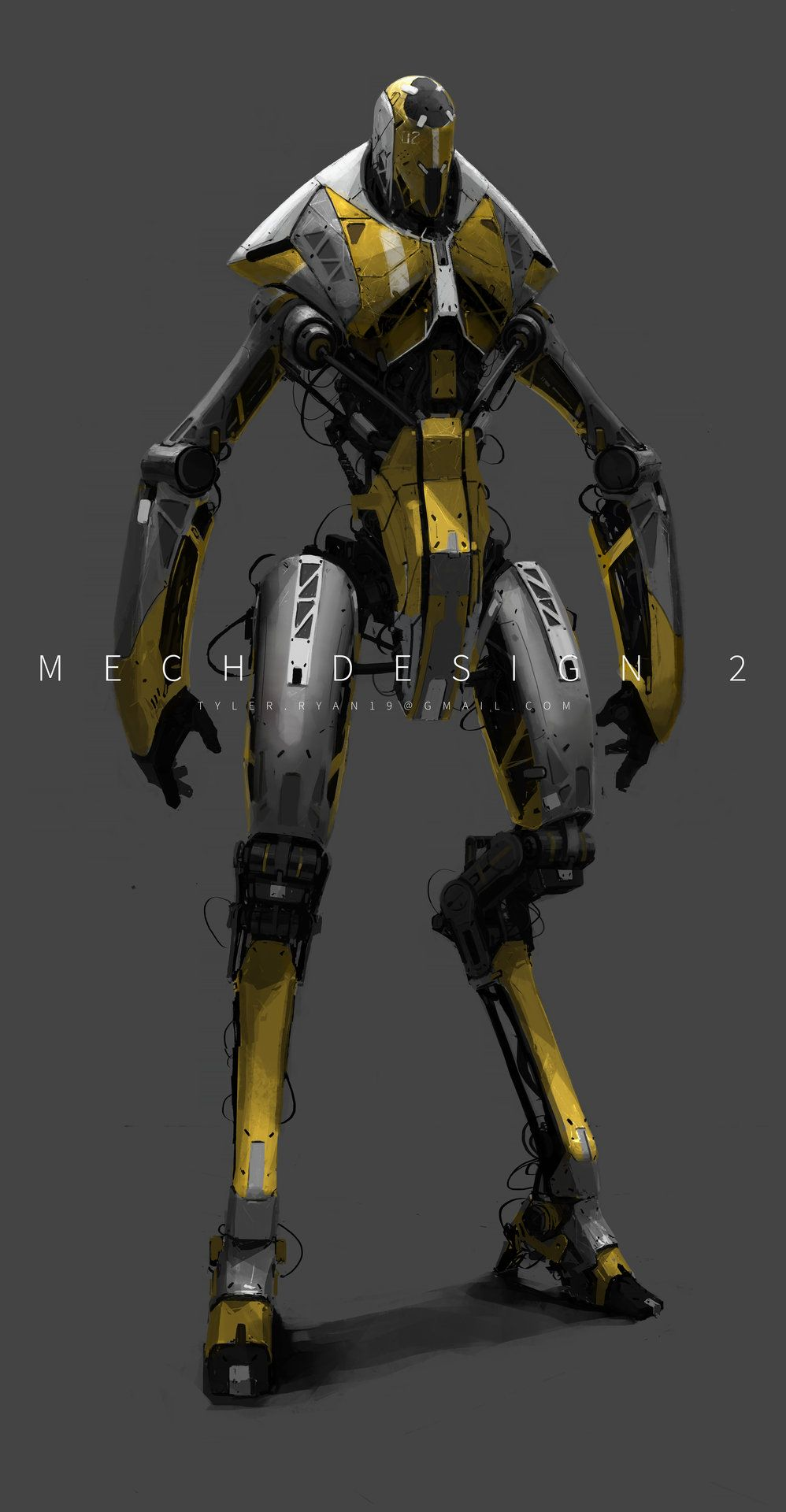 Artstation mech design 2 tyler ryan concept robots for Sci fi decor