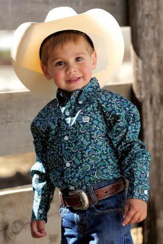 651d2b7475f Boys' Shirts Navy Cinch Long Sleeve Button Down | Little Cowboy ...