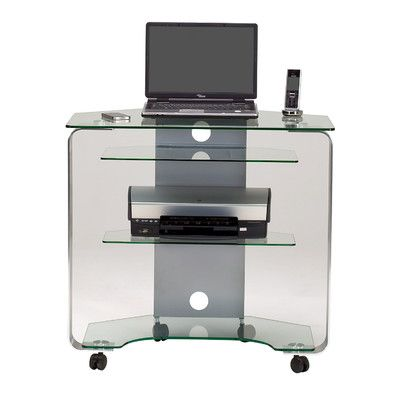 Jahnke Cuuba Computer Desk with Caster