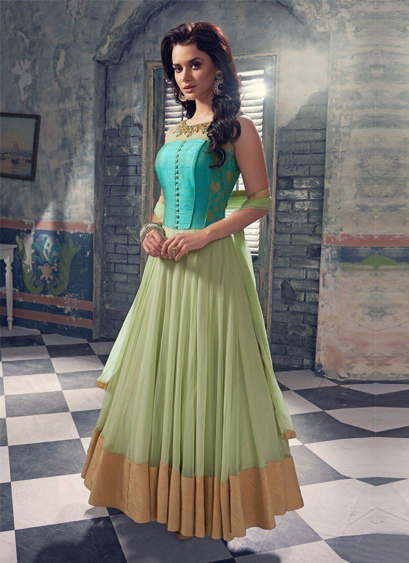 dbe4230ff9 Get new fancy designer anarkali suit online on Zipker, this suit is the best  traditional dress and you can wear it on any special day like diwali,  navratri, ...